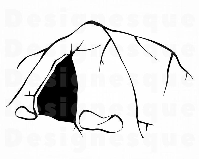 Cave clipart vector. Svg files for cricut