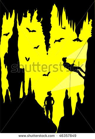 best caving images. Cave clipart vector