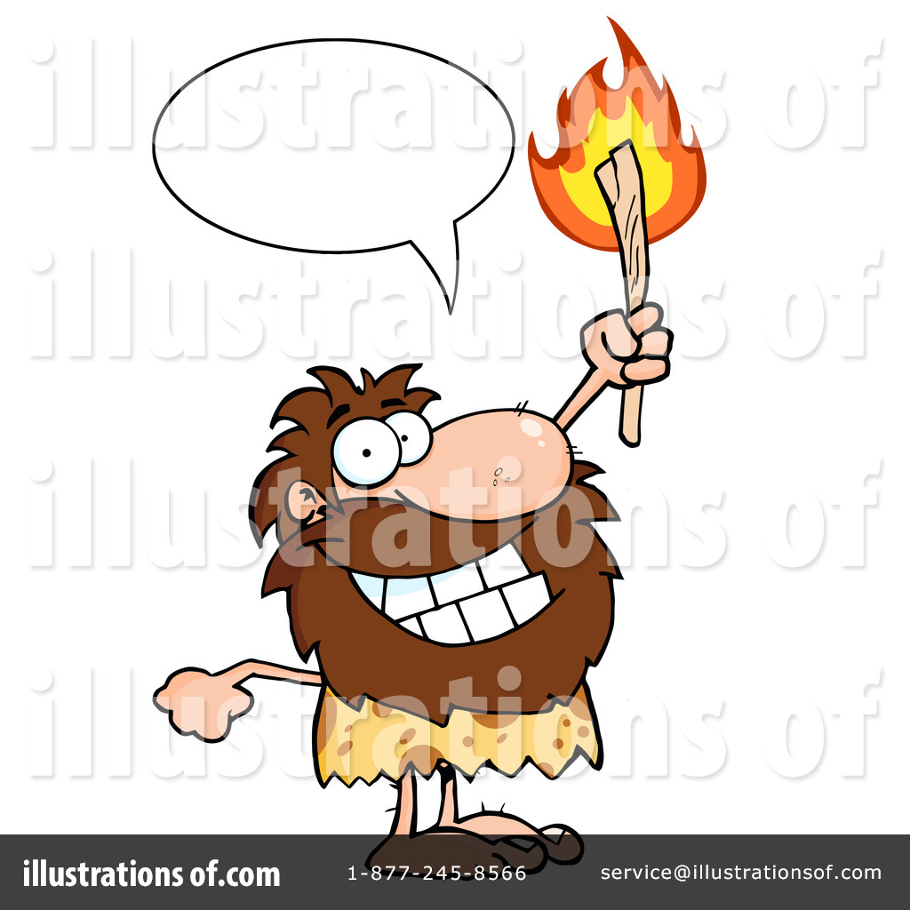 Illustration by hit toon. Caveman clipart