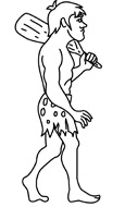 Caveman clipart black and white. Free history outline clip