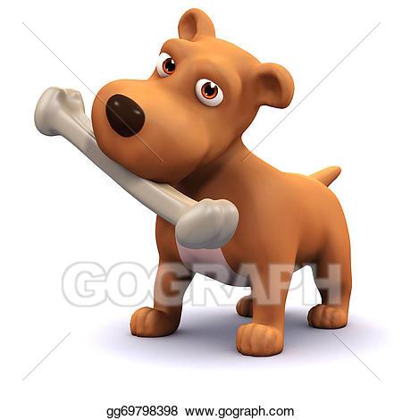Caveman clipart bone. Stock illustration d dog