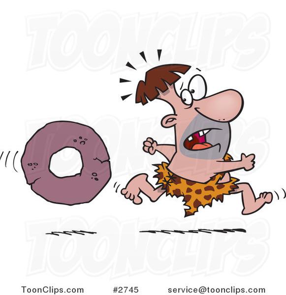 Caveman clipart caveman wheel. Cartoon running from a