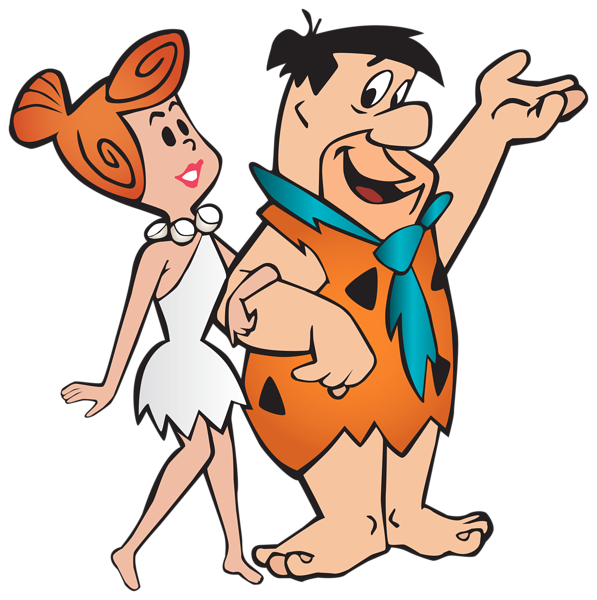 Mustache clipart twirly. Fred and wilma flintstone