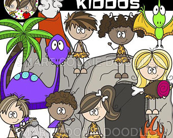 Clip art etsy kiddos. Caveman clipart group