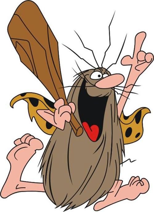Caveman clipart group. Captain hanna barbera cartoon