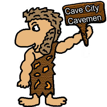 Cave city glitter graphics. Caveman clipart group