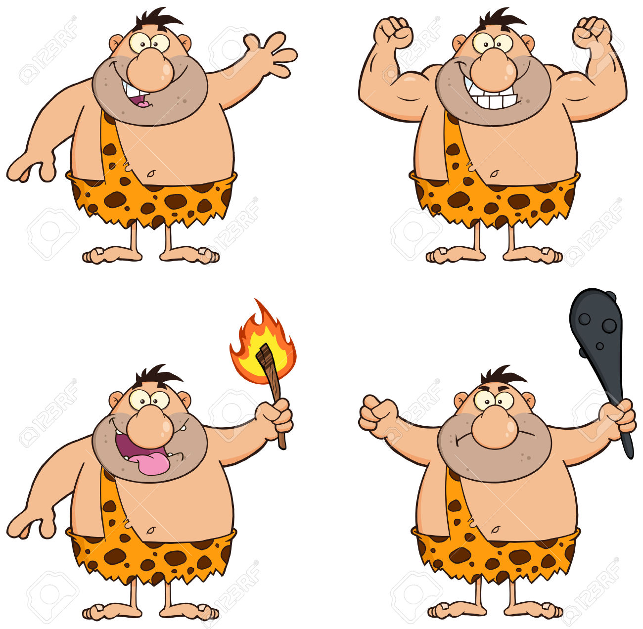 Caveman clipart happy. Character pencil and in