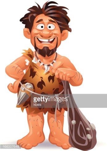 Stock vectors me. Caveman clipart happy