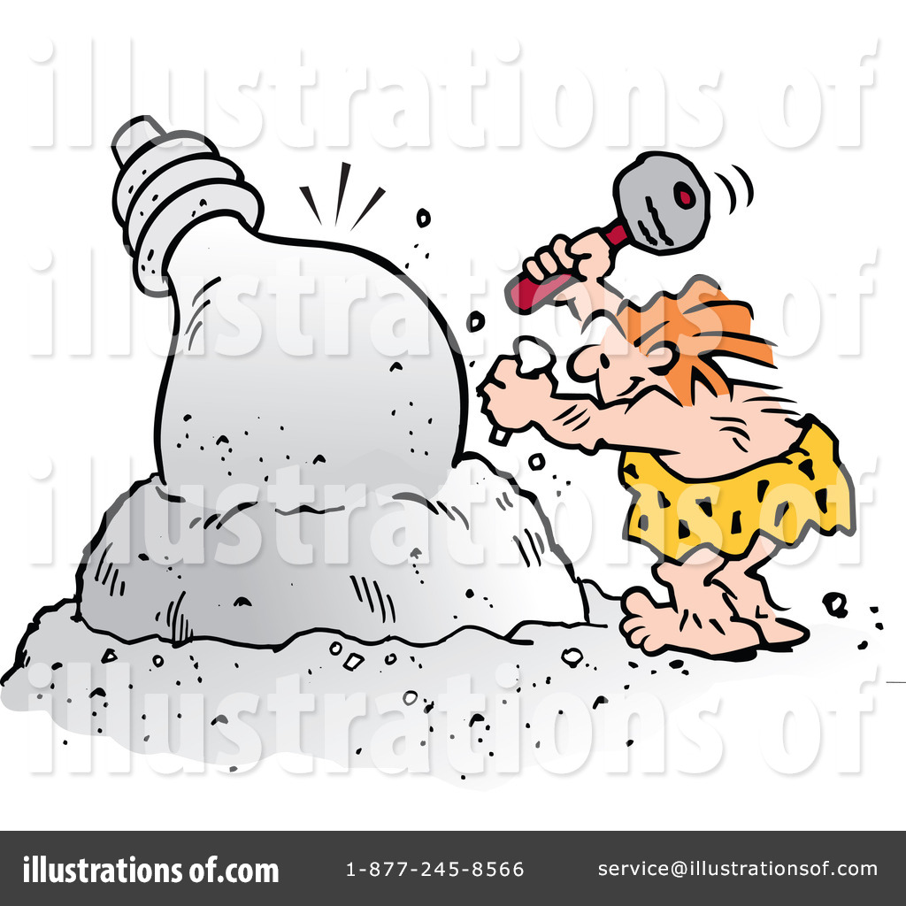 Caveman clipart happy. Illustration by johnny sajem