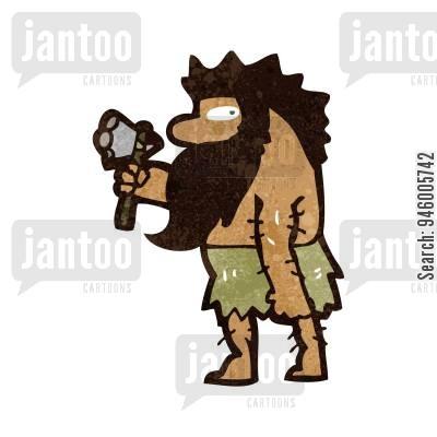 Cave man cartoons humor. Caveman clipart hard stone