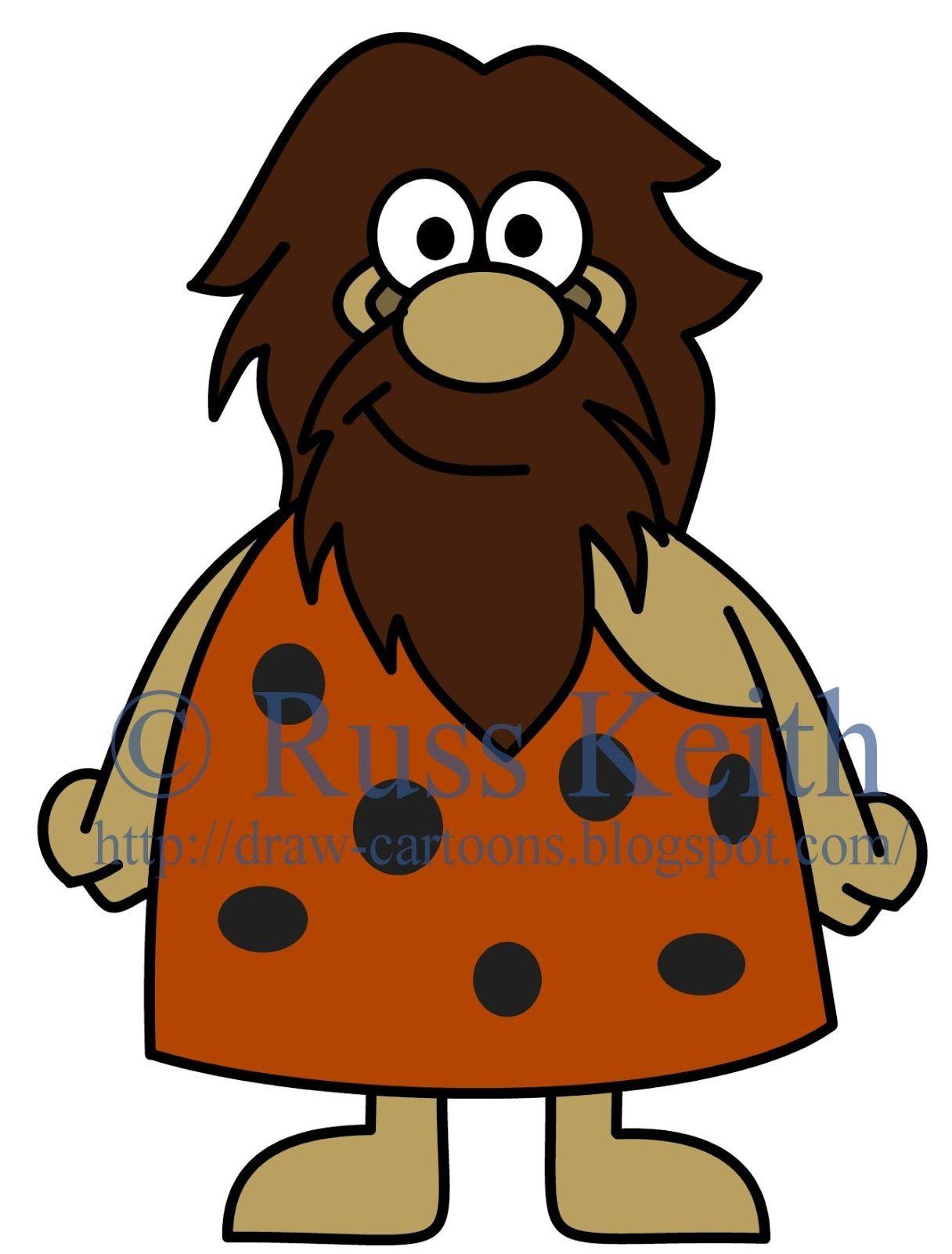Caveman clipart hard stone. How to draw cartoons