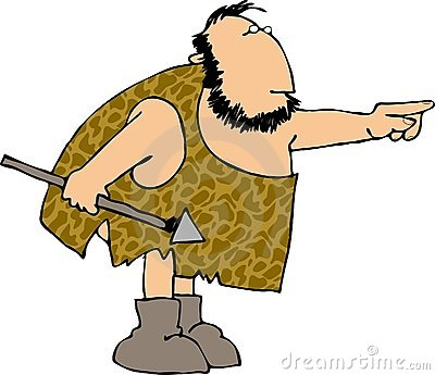 Man pencil and in. Caveman clipart hunting