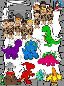Caveman clipart prehistoric. Dinosaur and preschool themes