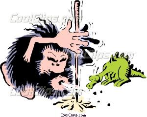 Lighting fire vector clip. Caveman clipart prehistoric