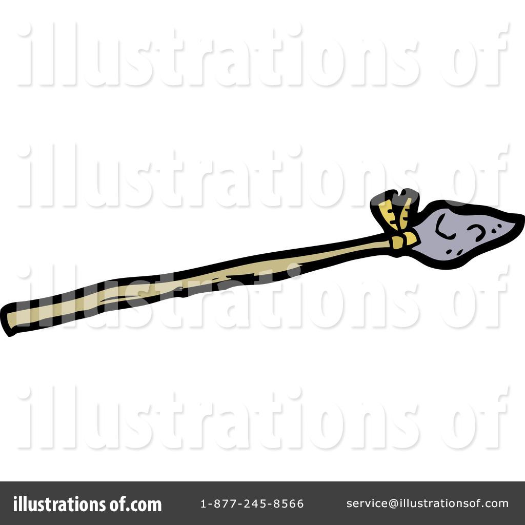 Illustration by lineartestpilot royaltyfree. Caveman clipart spear