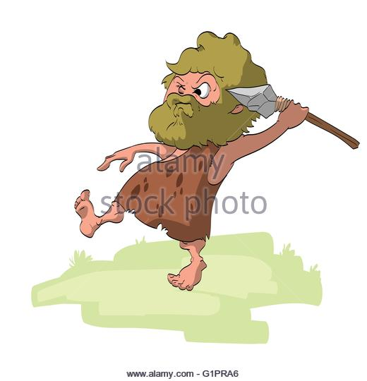 Caveman clipart spear. Man hunting pencil and