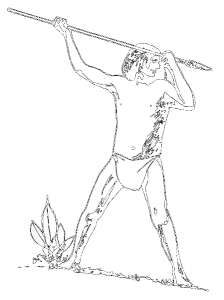 Caveman clipart spear. Clip art download