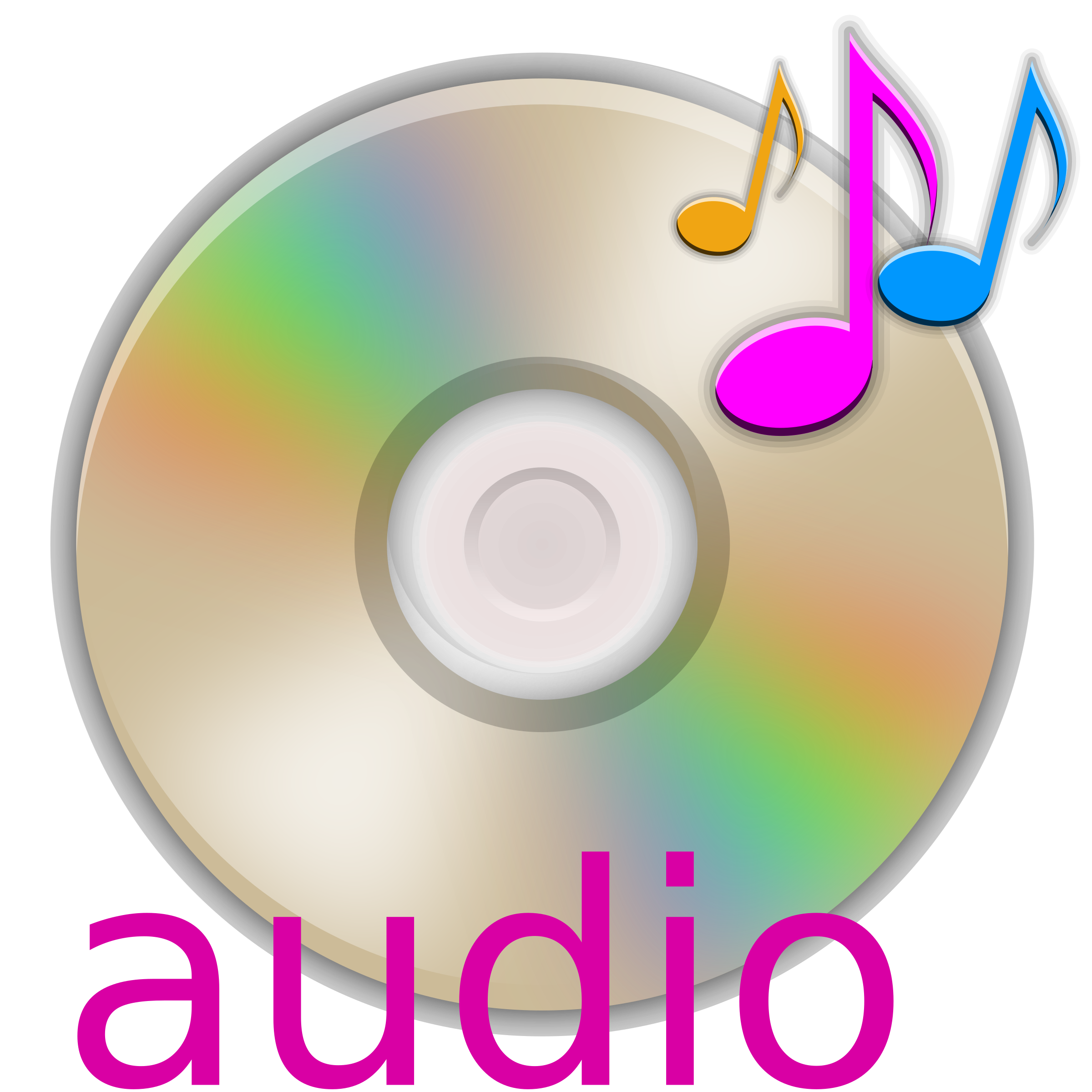 Cd clipart. Audio