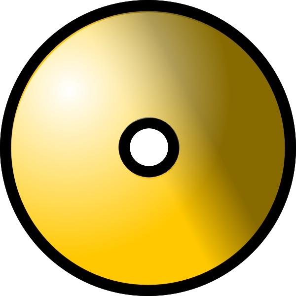 Cd clipart cd dvd. Gold theme clip art