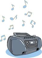 Cd clipart cd player. Free electronics clip art
