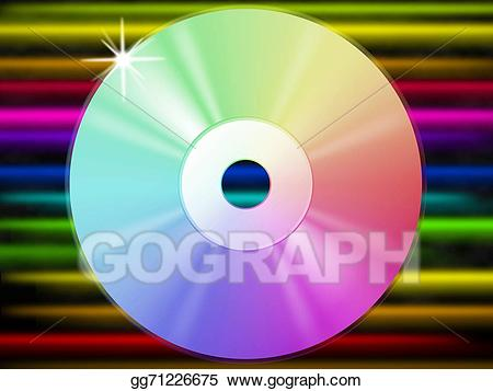 Background shows music listening. Cd clipart colorful