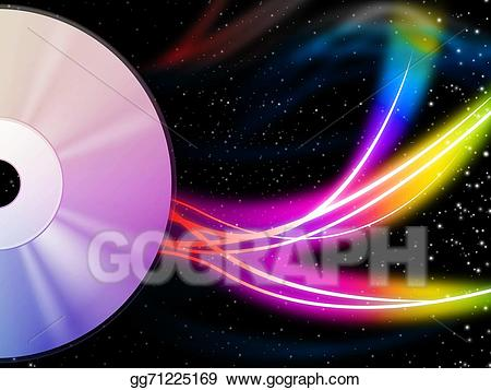 Cd clipart colorful. Stock illustration background means