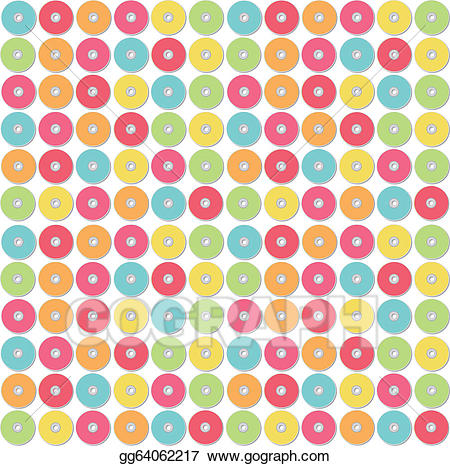 Cd clipart colorful. Vector pattern of illustration