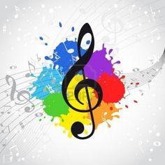 Cd clipart colorful. Music notes symbols panda