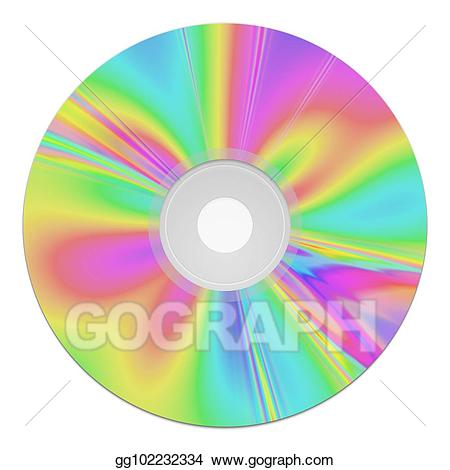 Drawing a rom music. Cd clipart colorful