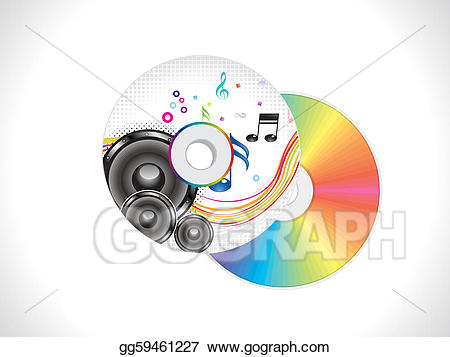 Cd clipart colorful. Stock illustration abstract musical