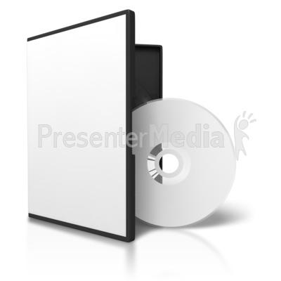 Blank case disc display. Cd clipart dvd box