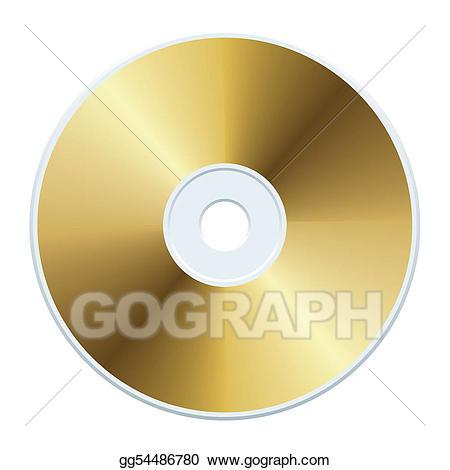 Eps illustration vector gg. Cd clipart gold