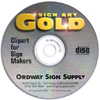 Cd clipart gold. Signart from ordway sign