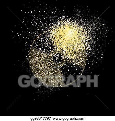 Vector art glitter concept. Cd clipart gold