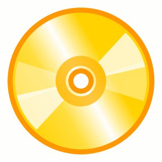 Free disks graphics images. Cd clipart gold