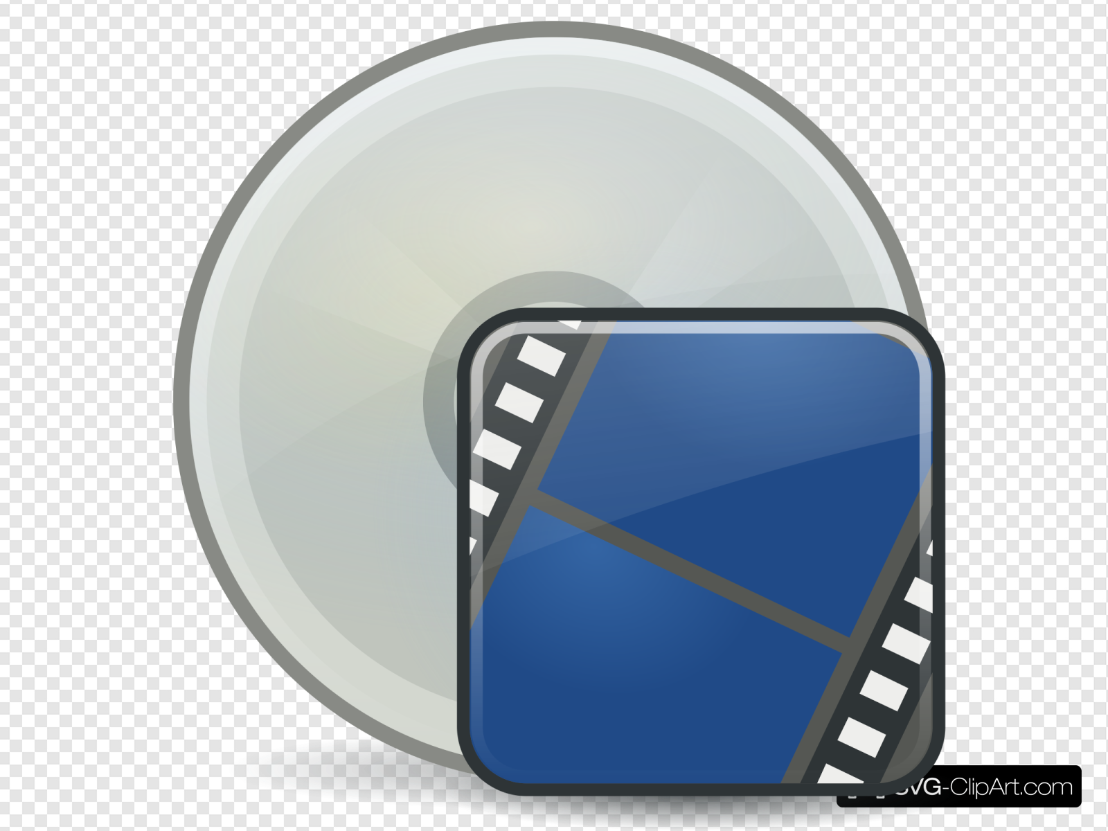 Burn clip art icon. Cd clipart movie