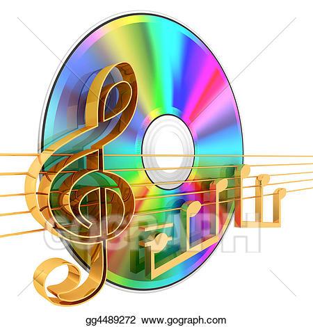 Cd clipart music cd. Stock illustrations gg gograph