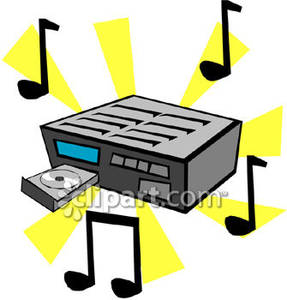 Player and notes royalty. Cd clipart music cd