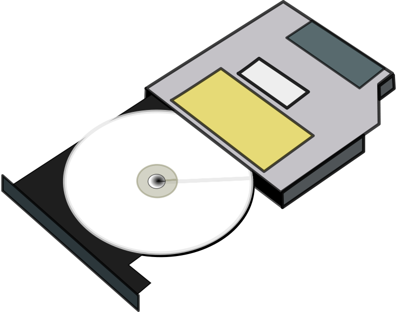 . Cd clipart optical drive