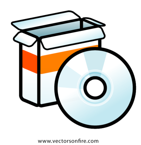 Free packaging icon and. Cd clipart software