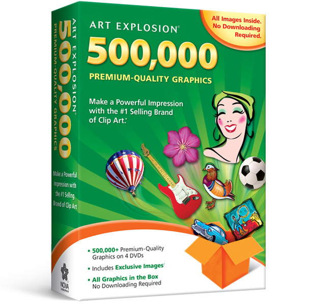 Art explosion avanquest . Cd clipart software