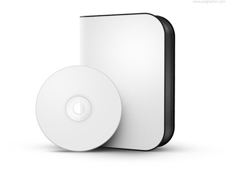 Free box with disc. Cd clipart software