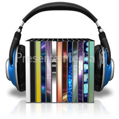 Headphones cases signs and. Cd clipart stacked