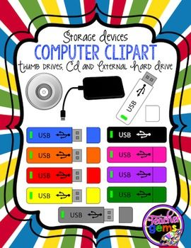 Cd clipart storage device. Memory devices and teacher