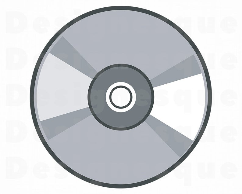 Compact disk game music. Cd clipart svg