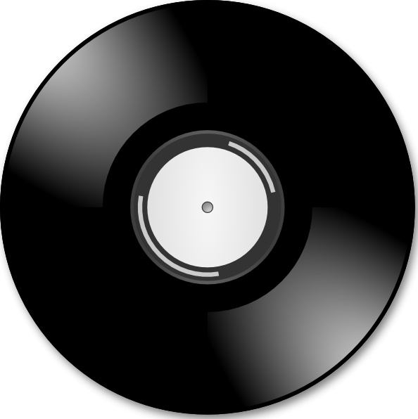 Vinyl disc record clip. Cd clipart svg