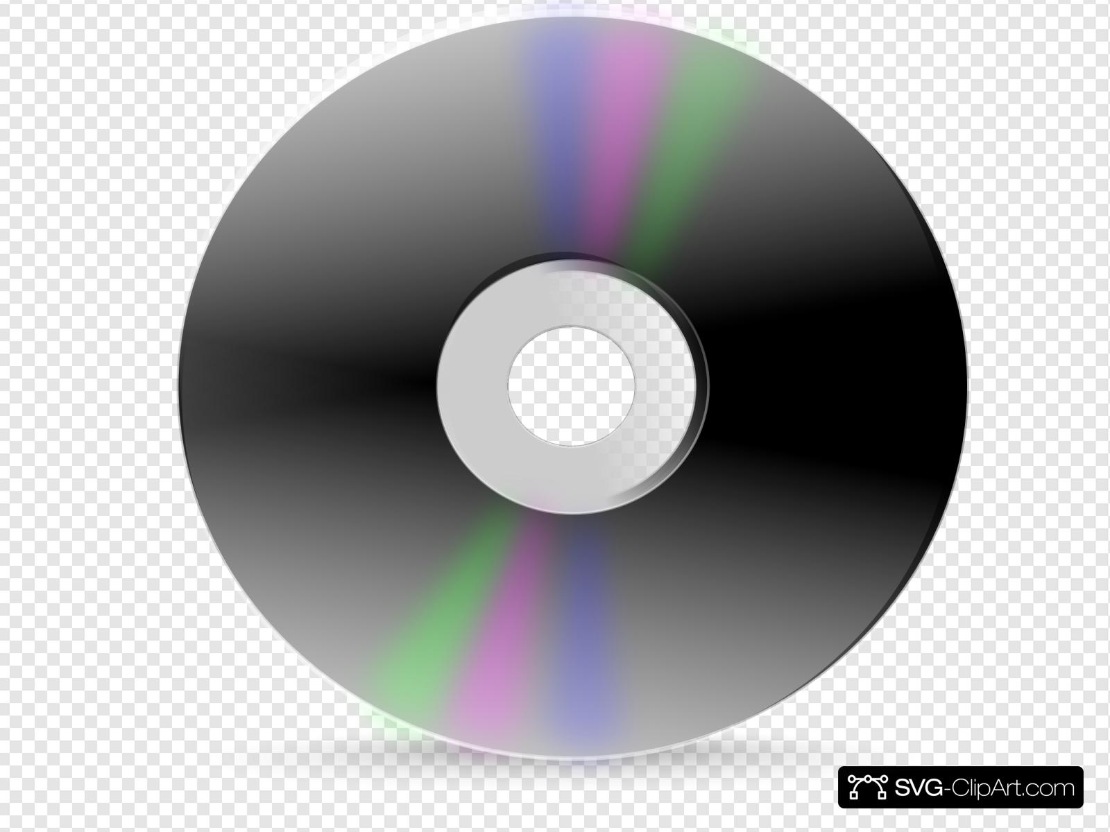 Blank clip art icon. Cd clipart svg