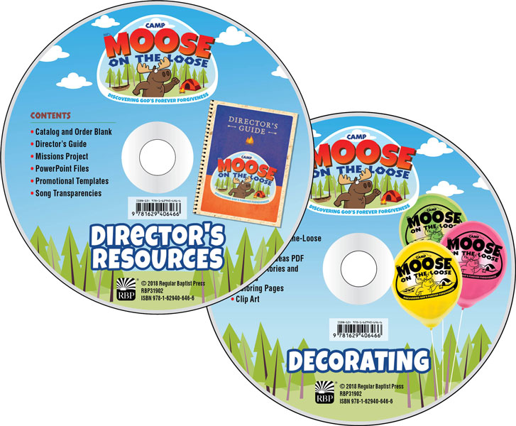 Camp moose on the. Cd clipart training material