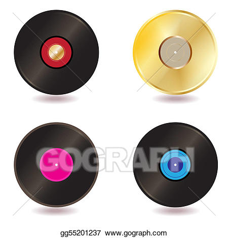 cd clipart vintage record