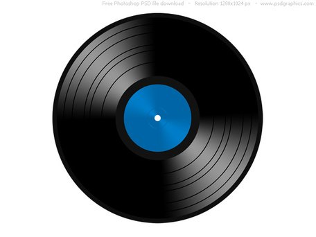 Free sleeve and vector. Cd clipart vintage record